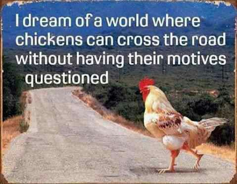 Chicken road crossing motive